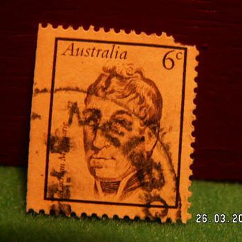 Vintage Australia 6c Stamp ~ Used - Stamps