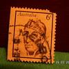 Vintage Australia 6c Stamp ~ Used