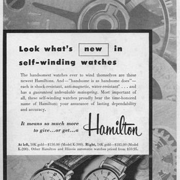 1954 - Hamilton Watch Advertisement - Advertising