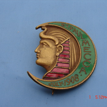 St Paul Mecca July 1908 Pin