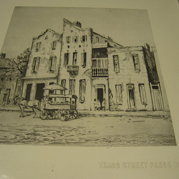 "Elizabeth O'Neill Verner ""Close Neighbors""  Etching Print"