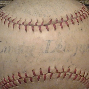 Wally Moses signed Lively League Baseball - Baseball