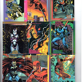 MARVEL COMICS CARDS - Comic Books