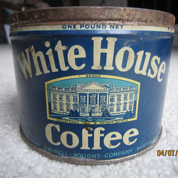 Antique White House Coffee Tin