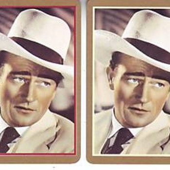 2 deck set of John Wayne playing cards - Movies