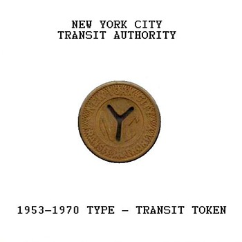1953-1970 - New York City Transit Token - US Coins