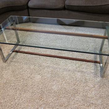 Chrome, Wood, Glass top coffee table - Help with Identification? - Mid-Century Modern