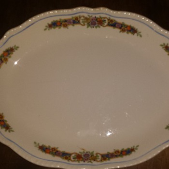 Mystery Homer Laughlin Plate
