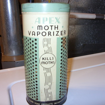 EARLY TIN APEX MOTH VAPORIZER - Advertising