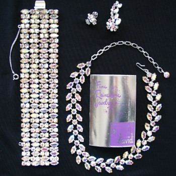 B. David Rhinestone Set - Costume Jewelry