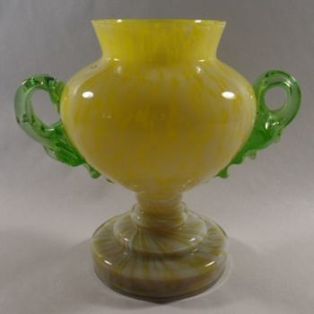 Welz Glass Trophy Vase