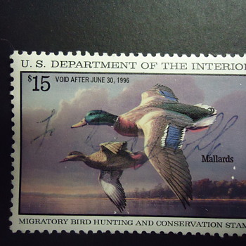 1995 $15.00 DUCK STAMP - Stamps