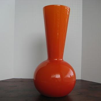 Orange cased vase
