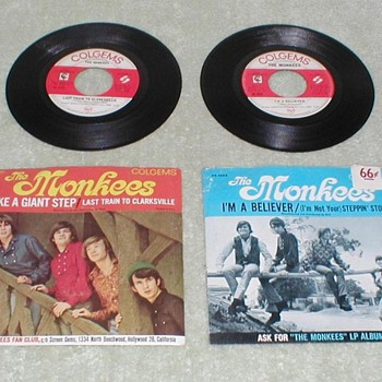 The Monkees 45's - Records