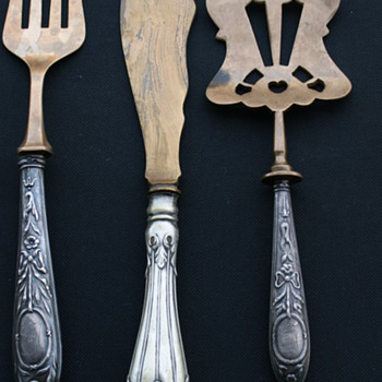 Antique Silver Desert Cutlery Set