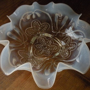 Lovely Opalescent Fluted Bowl - Glassware