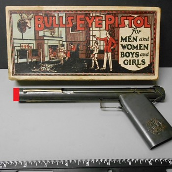 "Very early ""Bulls Eye"" Catapult BB pistol in box - 1924 - Toys"