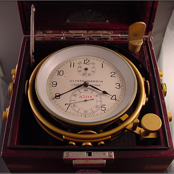 Ulysse Nardin Ship&#039;s Chronometer from USS Fayette c.1943 - Clocks