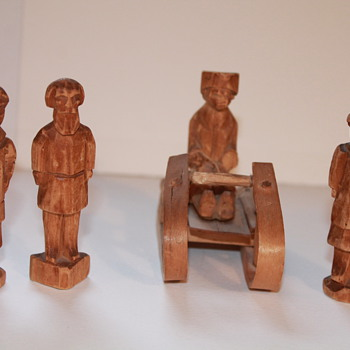 HAND CARVED RUSSIAN FIGURES