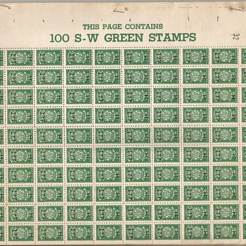 S-W (Sure Winner) Green Trading Stamps - Stamps