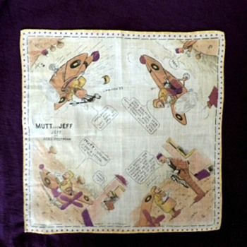 Rare Mutt and Jeff Handkerchief