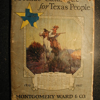 This is an original (Not a reprint) A Texas Catalog for Texas People. Montgomery Ward &amp; CO. Fort Worth Spring &amp; Summer 1927 - Books