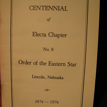 Eastern Star Centennial - Books