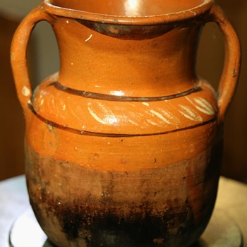Mexican Pottery Cooking Pot - used - Native American