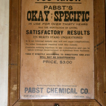 Snake Oil...Pabst's OK Specific - Advertising