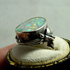 Rhoda Wager (signed) Silver & Boulder Opal Ring