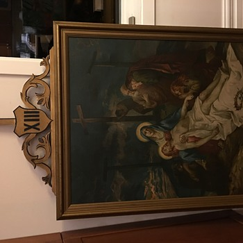 Religious painting found in an old church. - Visual Art