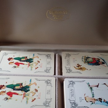 Need info on Congress playing cards (4 seasons, Norman Rockwell, in box)