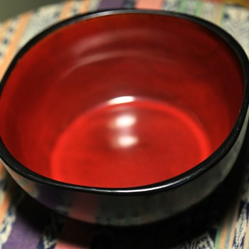 Red and Black Bowl - Unsigned