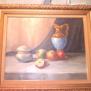Old oil painting on canvas   - Visual Art