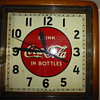 1930's Coca-Cola  Selected Devices Wood Frame Clock