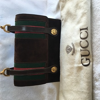 Rare Vintage Gucci Lunch Box Bag circa 1960s