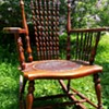 Rocking chair with Spiral Spindles