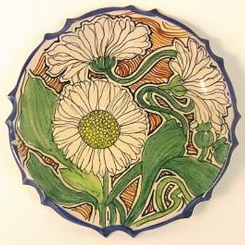 nouveau hand painted plates
