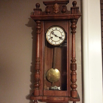 Hodge Podge Marriage Clock with Face - Clocks