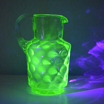 Uranium glass jug - Glassware