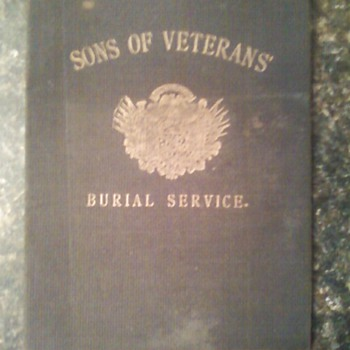 Sons of Veterans Burial Service book
