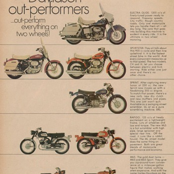 1969 Harley Davidson Motorcycles Advertisement - Advertising