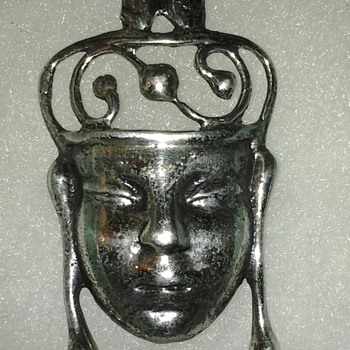 Sterling Silver face pin