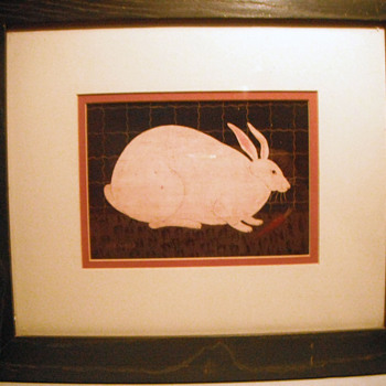 """Fat Rabbit"" Americana Warren Kimble - Animals"