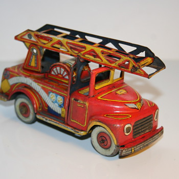 fire truck tin toy - Toys