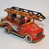 fire truck tin toy
