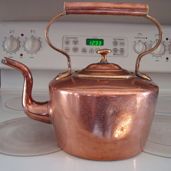 Antique Copper Kettle - Kitchen
