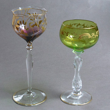 Free Antique Stemware from Mom - Art Glass