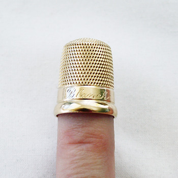 """Simons Bros. Thimble """"Blanche"""" - what's in a name? - Sewing"""