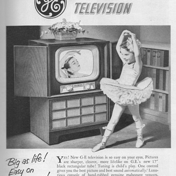 1951 - Gen. Elec. Model 17C107 Console TV Advertisement - Advertising